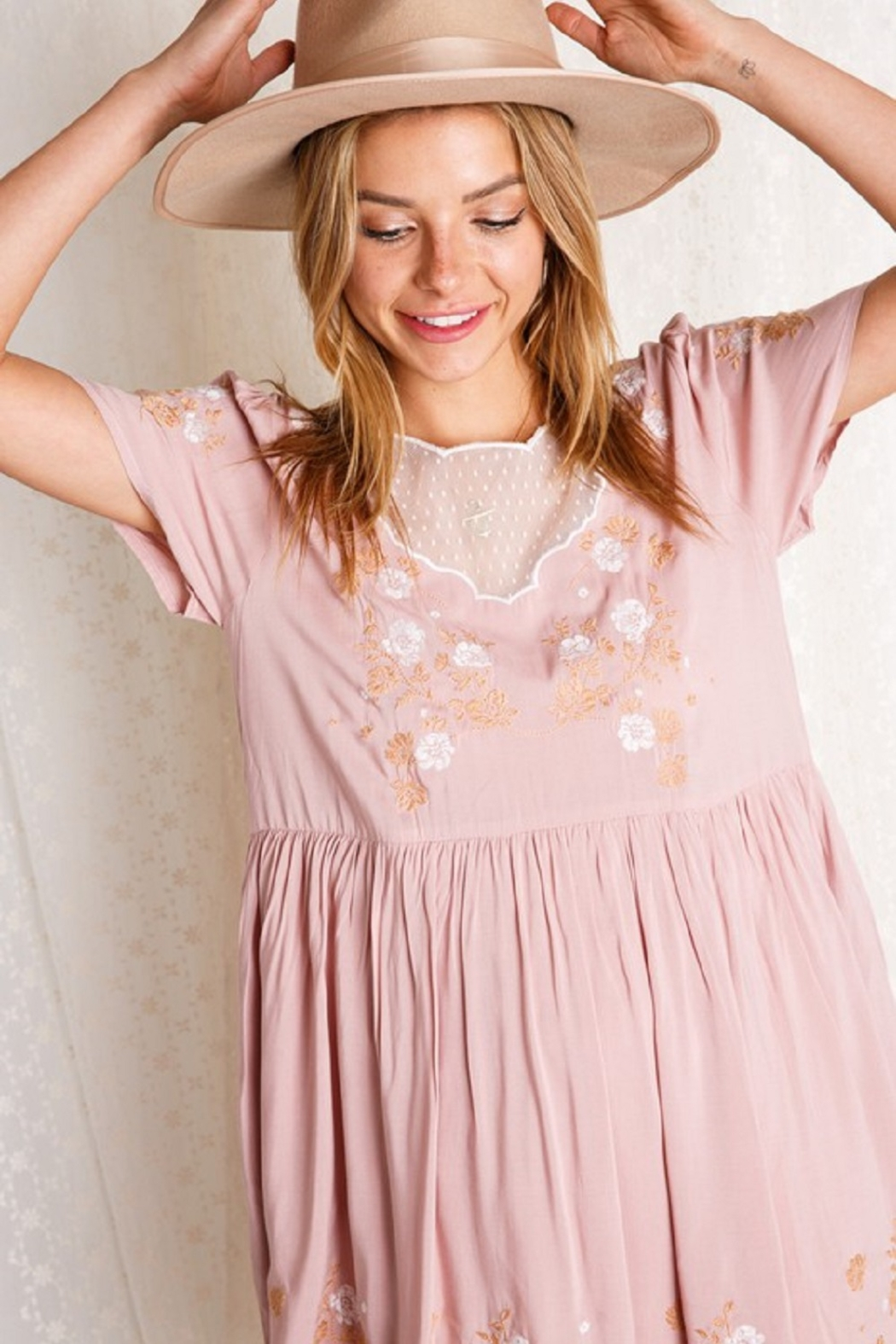 BaeVely Embroiled Dress - Front Cropped Image