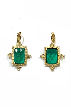 BeJe Emerald Art-Deco Earrings - Alternate List Image