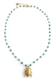 Malia Jewelry Emerald Beetle Necklace - Product Mini Image