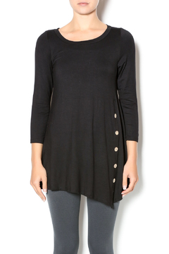 Emerald Black Button Front Tunic - Product List Image