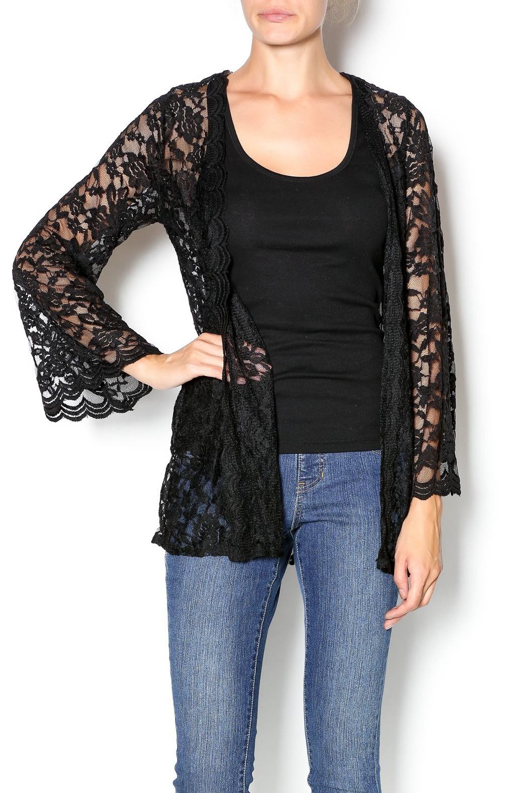 Emerald Black Lace Cardigan from Tennessee by Southern Muse ...