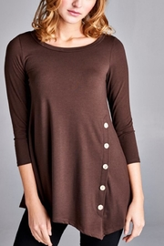 Emerald Button Embellished Tunic - Product Mini Image