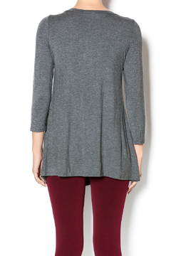 Emerald Charcoal Button Front Tunic - Alternate List Image