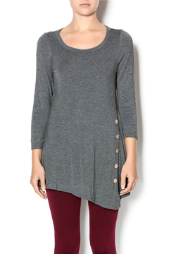 Emerald Charcoal Button Front Tunic - Product List Image