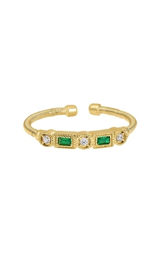 Lets Accessorize Emerald Cable-Cuff Ring - Alternate List Image
