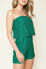 Sugarlips Emerald City Lace Romper - Front full body