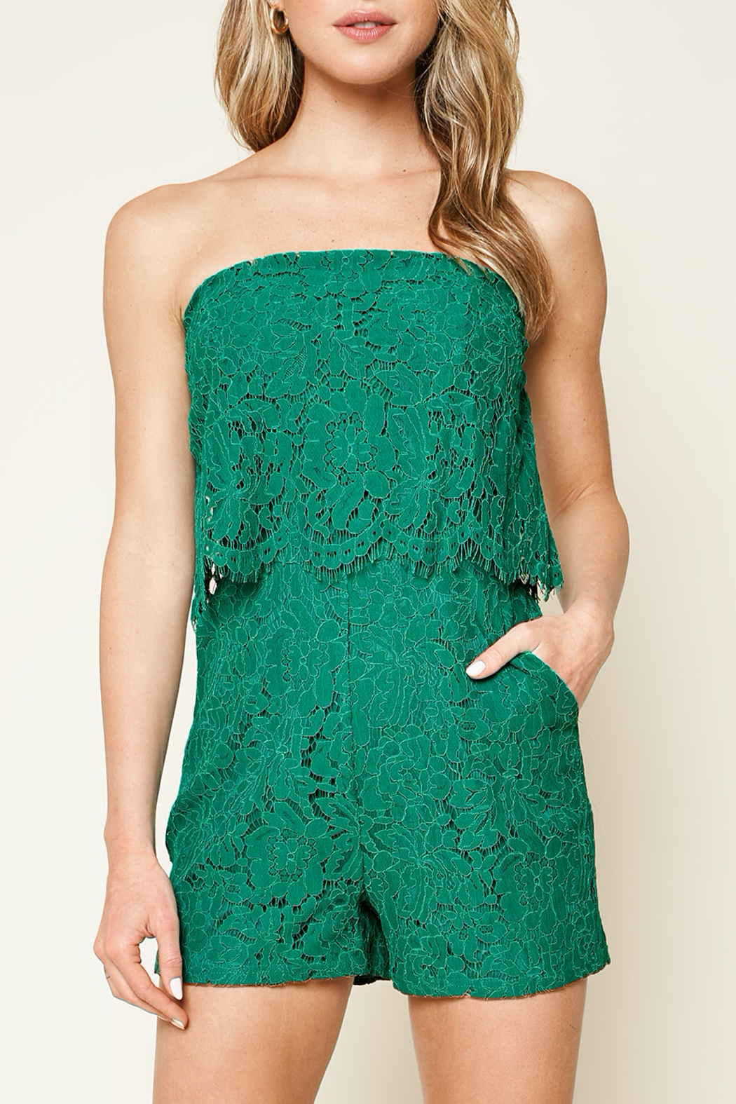Sugarlips Emerald City Lace Romper - Main Image
