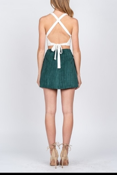 Fore Collection Emerald Corduroy Mini-Skirt - Alternate List Image