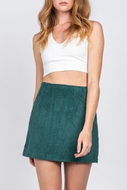 Fore Collection Emerald Corduroy Mini-Skirt - Product Mini Image