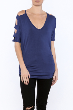 Emerald Cutout Ruched Top - Product List Image