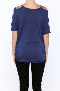 Emerald Cutout Ruched Top - Alternate List Image