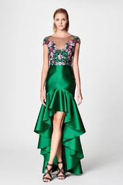 Marchesa Emerald Embroidered Details - Product Mini Image