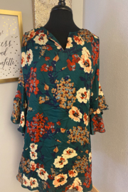 Kindred Mercantile  Emerald Floral Dress - Product Mini Image