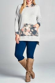 Emerald Floral Hoodie - Front cropped