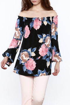 Emerald Floral Off-Shoulder Tunic Top - Product List Image