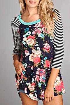 Emerald Floral Tunic Top - Product List Image