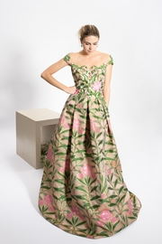 Reem Acra Emerald Flower Dress - Product Mini Image