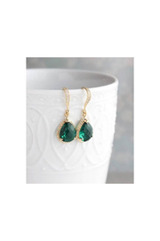 The Birds Nest Emerald Green Glass Earrings - Product Mini Image