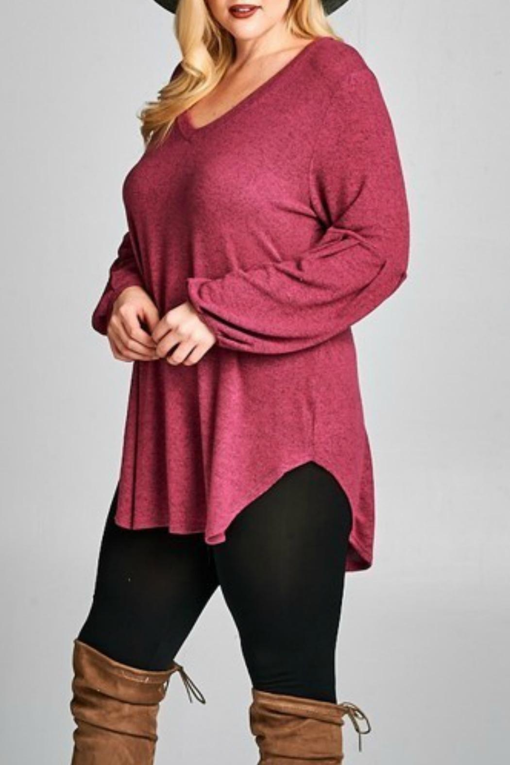 Emerald Love Tunic Sweater - Front Full Image
