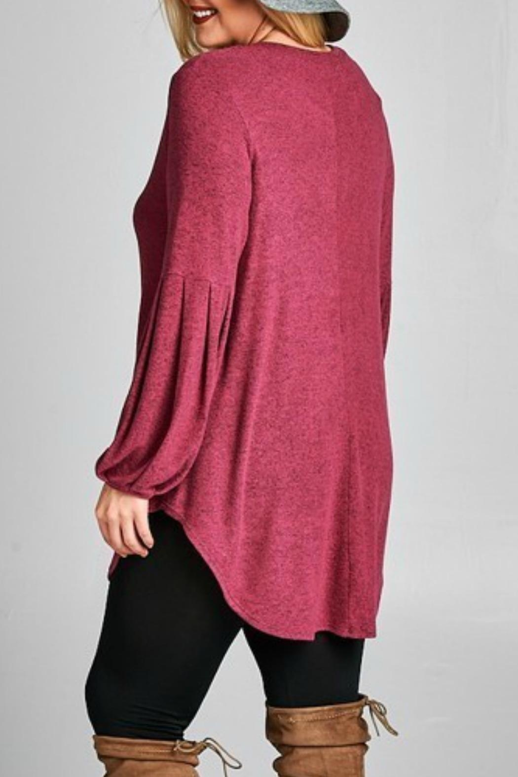 Emerald Love Tunic Sweater - Side Cropped Image