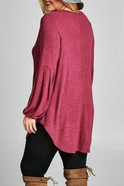 Emerald Love Tunic Sweater - Side cropped