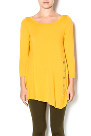 Emerald Mustard Button Front Tunic - Product Mini Image