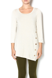 Emerald Oat Button Front Tunic - Product Mini Image