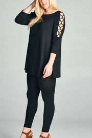 Emerald Plus Criss-Cross Tunic - Front cropped