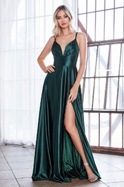 Cinderella Divine Emerald Satin Sweetheart Long Formal Dress - Product Mini Image