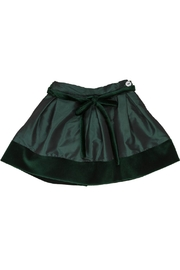 Malvi & Co. Emerald Taffeta Skirt. - Front cropped