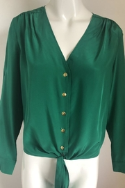 Amanda Uprichard Emerald Tie-Waist Top - Product Mini Image