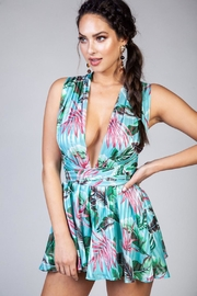 Latiste Emerald Tropical Romper - Product Mini Image