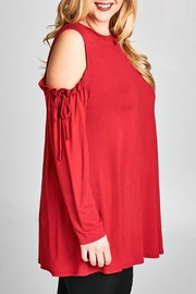 Emerald Valarie Red Tunic - Front full body