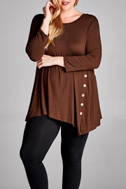 EMERALD COLLECTION Bella Brown Button - Front cropped