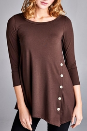 EMERALD COLLECTION Bella Brown Button - Front full body