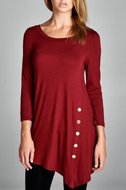 EMERALD COLLECTION Bella Burgundy Button - Front full body