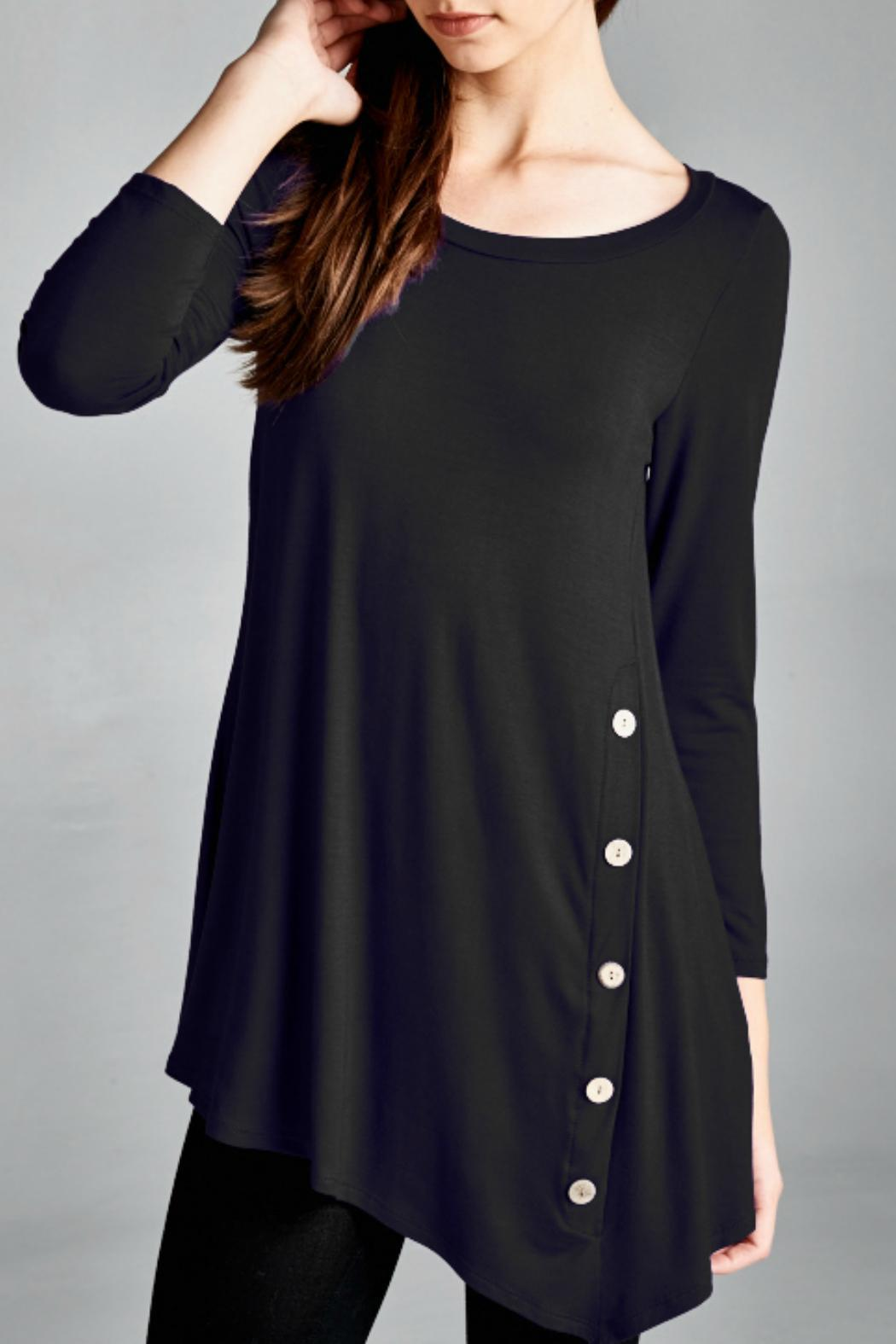 EMERALD COLLECTION Button Embellished Tunic - Main Image