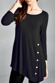 EMERALD COLLECTION Button Embellished Tunic - Product Mini Image