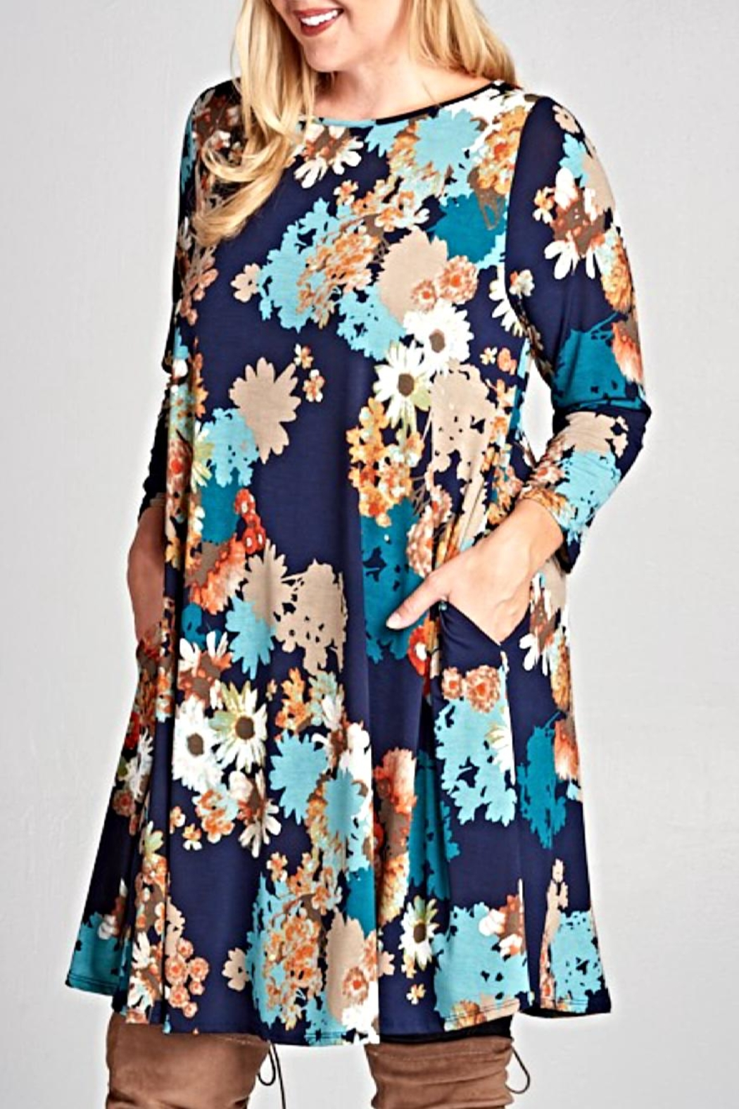 EMERALD COLLECTION Floral print tunic - Main Image