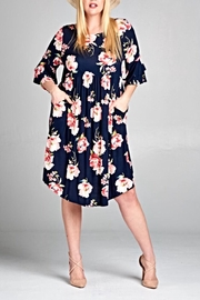 EMERALD COLLECTION Navy Floral Dress - Product Mini Image