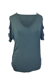 EMERALD COLLECTION Open Slit Tunic Top - Product Mini Image