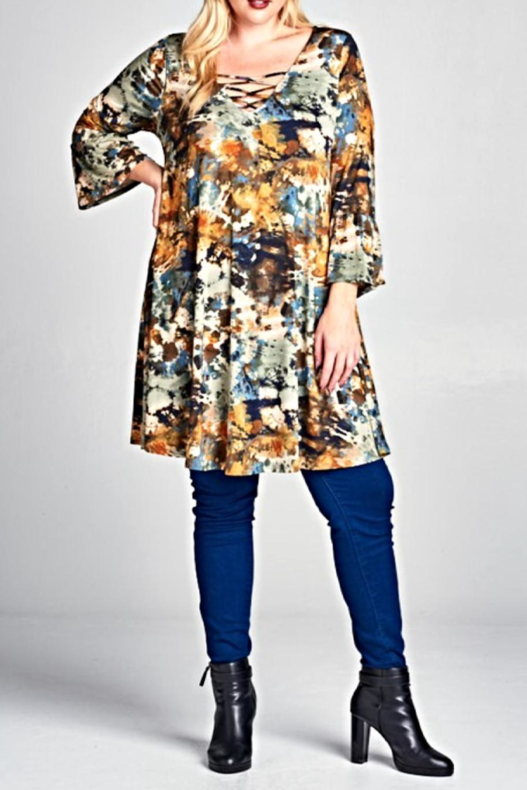 EMERALD COLLECTION Printed Strappy Tunic - Main Image