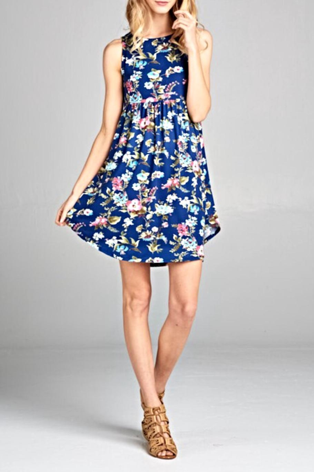 EMERALD COLLECTION Sleeveless Floral Dress - Main Image