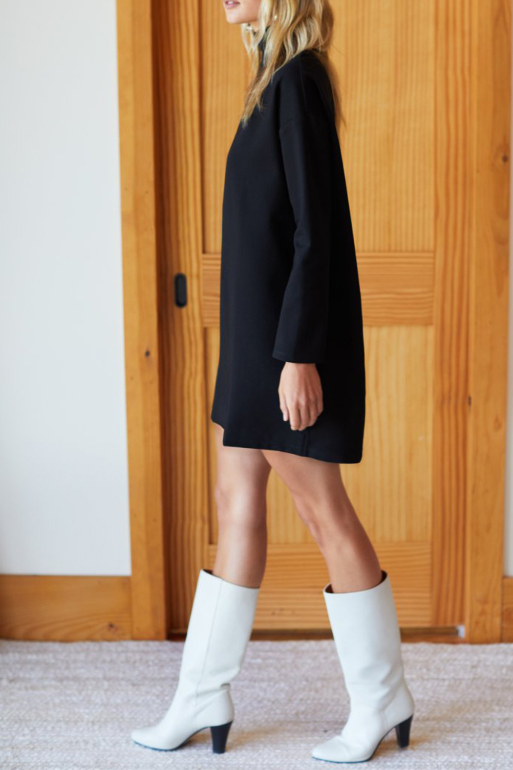 Emerson Fry Edie Ponte Turtleneck Dress - Front Full Image