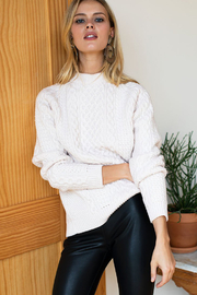 Emerson Fry Fisherman Knit Sweater - Back cropped