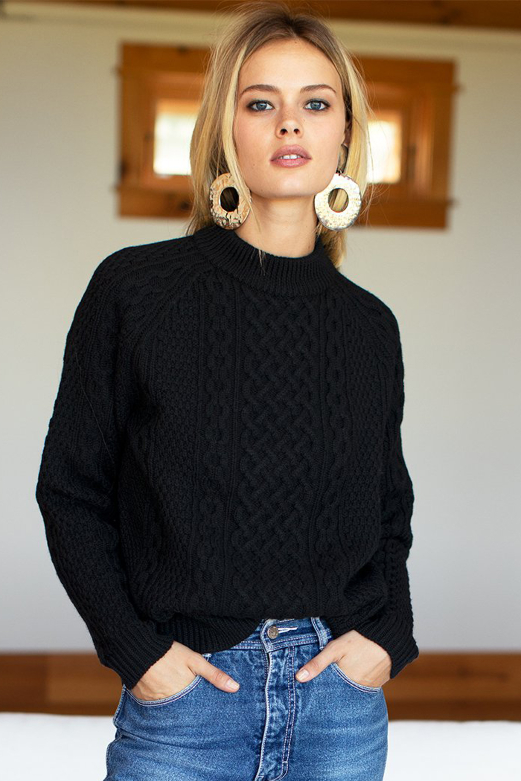 Emerson Fry Fisherman Knit Sweater - Front Cropped Image