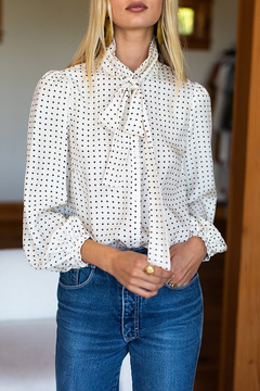 Emerson Fry EMERSON FRY NECK TIE BLOUSE - Product List Image