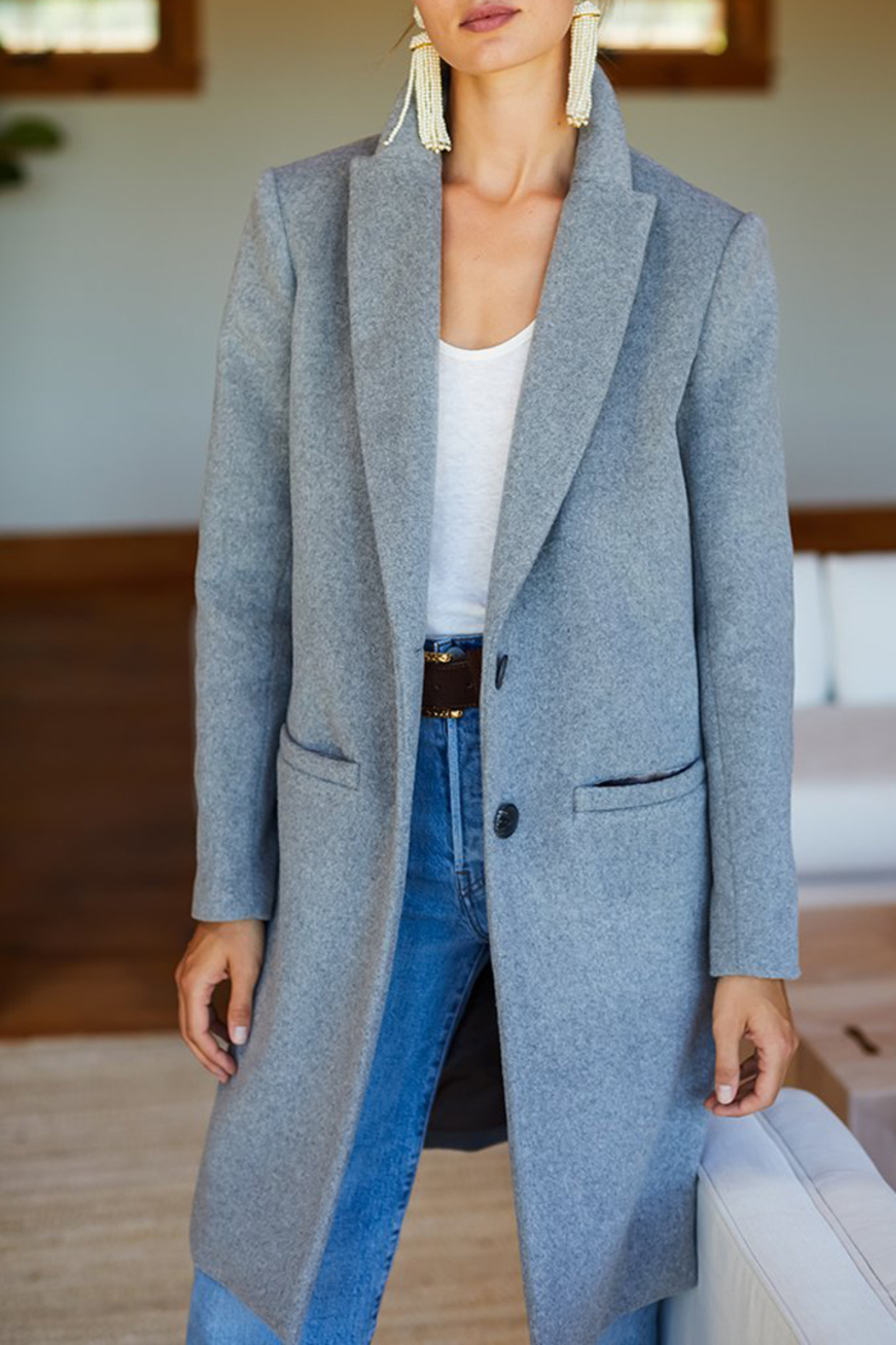 Emerson Fry Tailored Wool Coat - Main Image