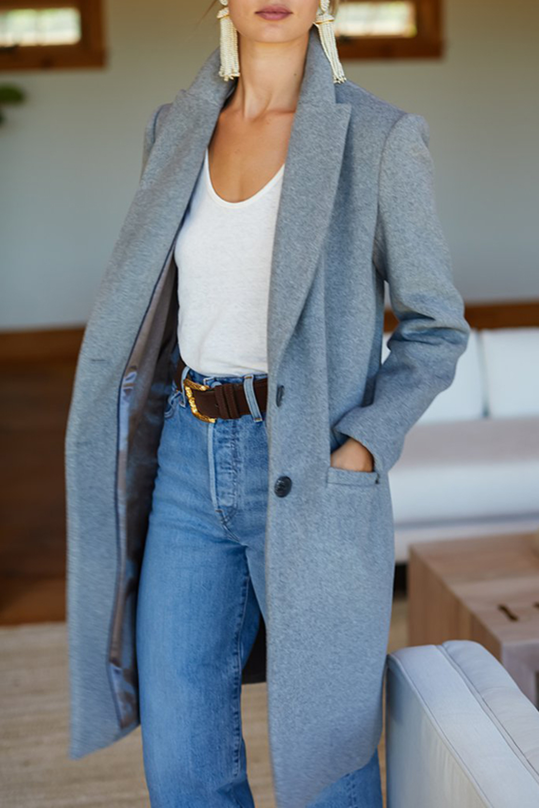 Emerson Fry Tailored Wool Coat - Front Full Image