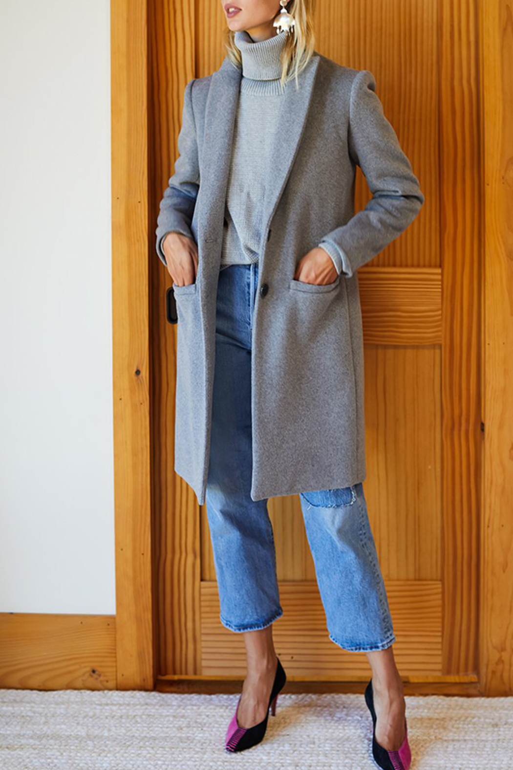 Emerson Fry Tailored Wool Coat - Side Cropped Image